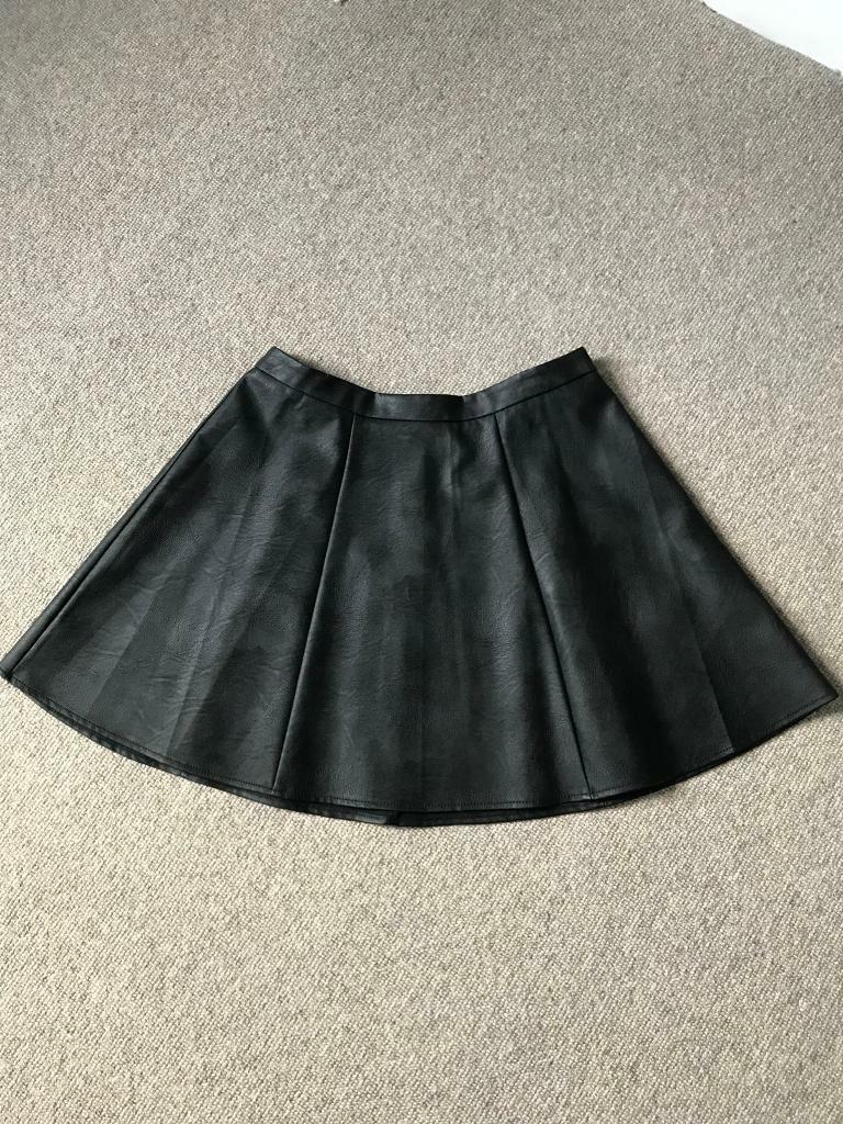 Oasis Faux leather skirt UK 12