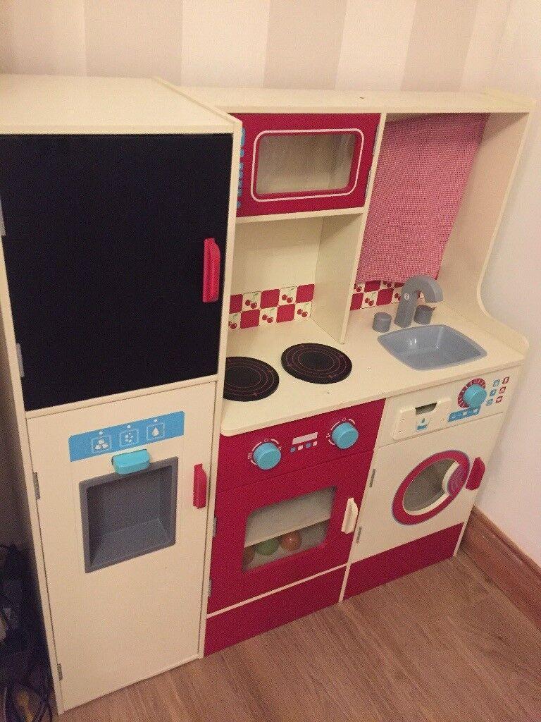 Asda Childrens Wooden Pretend Play Kitchen Roleplay Brand New In