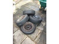"4x 13"" Tyres - 165/70/R13 - 4 stud"
