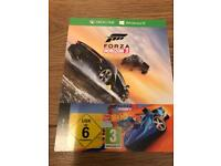 Brand new unused Forza Horizon 3 + hot wheels add on for Xbox one