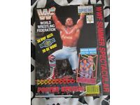 RARE WWE/ WWF WRESTLING SUPER STARS POSTER MAGAZINE BRITISH BULLDOG ON COVER HAVE OTHERS FOR SALE