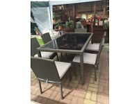 GARDEN RATTAN OUTDOOR PATIO SET. DINING TABLE AND CHAIRS. CONSERVATORY FURNITURE
