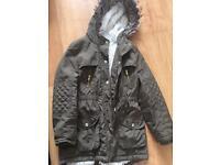 Girls khaki coat