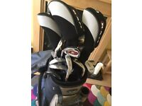 Set of left handed golf clubs with bag-unused