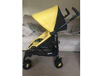 Pushchair baby stroller Pliko Mini Mod Yellow Peg Perego
