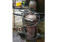 Oxy acetylene welding bottles trolley