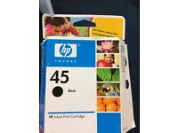 HP Ink Printer Cartridge #45 Black
