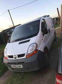 Renault traffic van for sale or swap