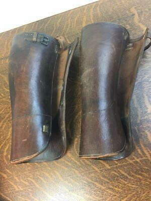 Spats, Gaiters, Puttees – Vintage Shoes Covers Antique Vintage Brown Leather Riding Spats Gaiters Shin Guards Leggings Puttees $49.99 AT vintagedancer.com