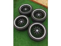 4 x Bayern Mesh alloys with tyres / PRICE DROP