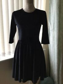 Girls Black Velvet Feel Sparkly Dress Worn once Age 13- 14 Party outfit Christmas