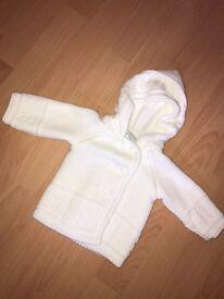 DANDELION White Baby boy jacket.