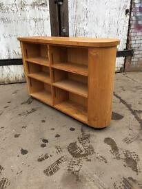 Curved Solid Oak Shelving Bookcase