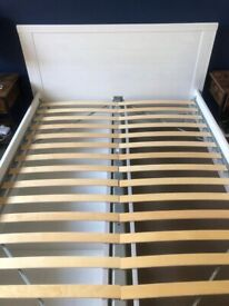 IKEA double bed with storage drawers