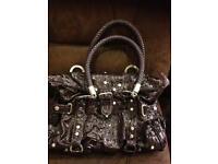 Beautiful LYDC purple patent handbag