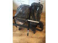 Mountain Buggy Duet Double Buggy + Extras (like donkey)