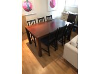 Solid Wood Table for 6/8 people