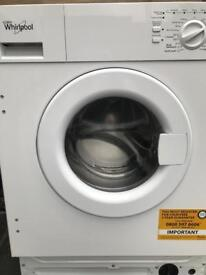 Integrated whirlpool washer machine as new