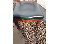Antique balloon back chair real leather