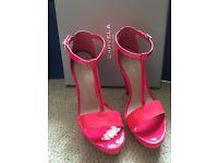 Carvela Kurt Geiger Size 40 UK 7 Pink High Heels Worn Twice Great Condition and Price
