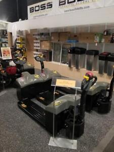 Boss Forklifts Electric Pallet Jack Truck - 3300lbs Cap - Built-In Charger - Only $3498!