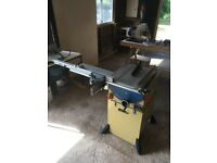 Scheppach TS 2000 Tablesaw + Axminster dust extractor + extras