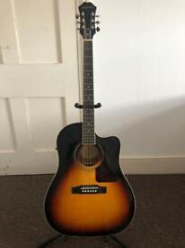 Epiphone AJ-220SCE Electro Acoustic Guitar in Vintage Sunburst