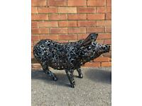 Large Metal Pig Garden Ornament/Statue