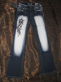Designer jeans sizes: 8 and 10