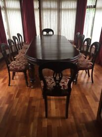 Solid Mahogmany Dining Table & Chairs