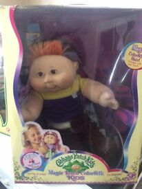 cabbage patch boy new boxed with colour changing hair