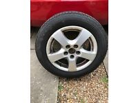 185/60R14 car wheel and tyre