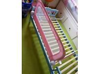 Pink bedrail fold down