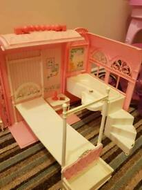 Barbie fold out bedroom and bathroom