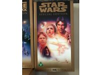 Star Wars Trilogy VHS video tapes