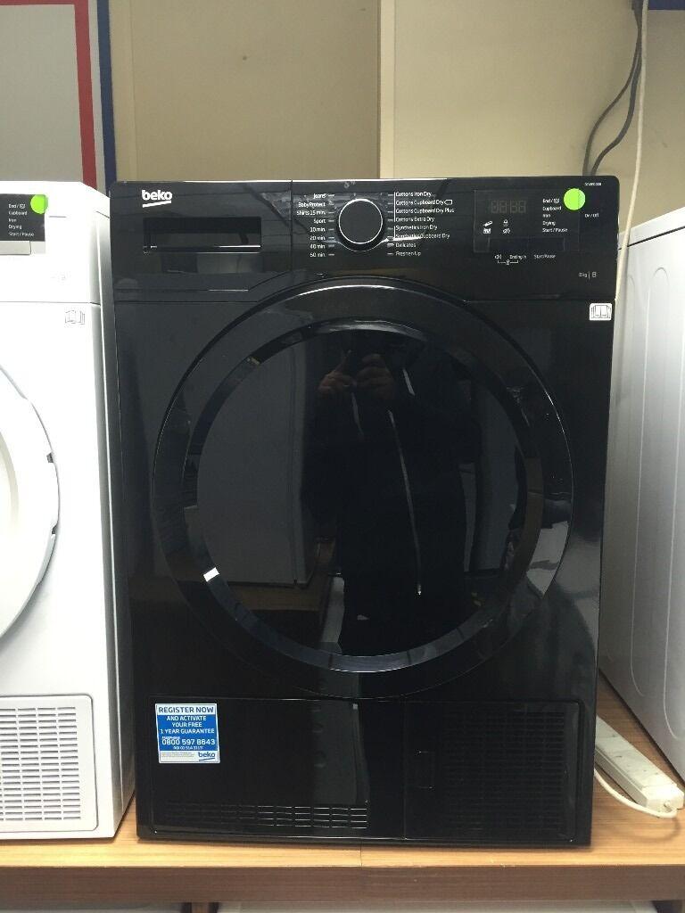 New Ex Display Beko Dcx83100b 8kg Condenser Tumble Dryer