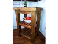CHUNKY RUSTIC KITCHEN ISLAND / TROLLEY/ BEDSIDE with detachable wheels