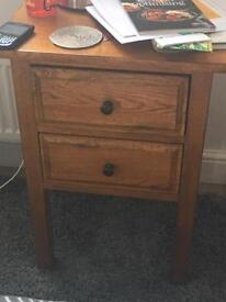 Laura Ashley Oak side / lamp /bedside table