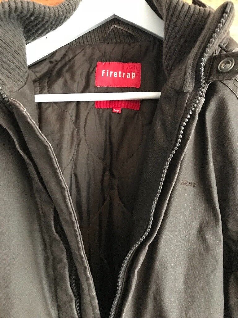 65be49c473 Men s Firetrap coat size large brown