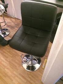 X2 black leather stools
