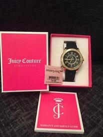 New in box- Genuine Juicy Couture Ladies black and gold watch