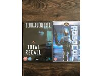 Robocop and Total Recall DVD's