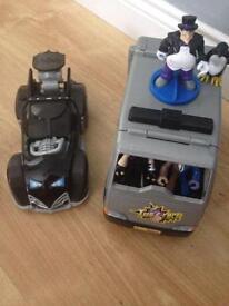 Imaginex two face van and batmobil