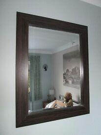 Mirror Dark brown surround 18 x 24 inch