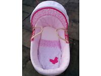 Moses Basket pink mothercare