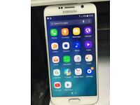 Samsung Galaxy S6 Smart Mobile phone unlocked.Excellent condition White 32GB WITH warranty & Receipt