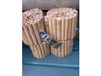 FOUR X ROLLS OF WICKES BAMBOO EDGING (NEW AND UNUSED) FOR SALE.