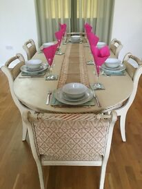 Shabby Chic Vintage Dining Table & Chairs