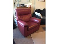 2 x Matching Red Armchairs