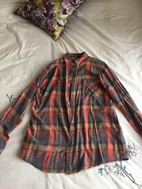 Topshop checked shirt size 12